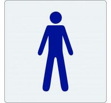 """Pictogramme économique en alu """" Toilettes homme """""""