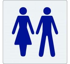 """Pictogramme économique en plexi """" Toilettes mixte """""""