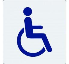 """Pictogramme économique en plexi """" Toilettes handicapé """""""