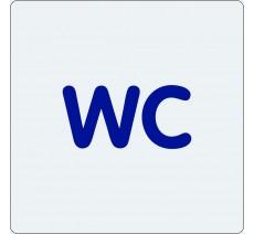 """Pictogramme économique en alu """" WC """""""