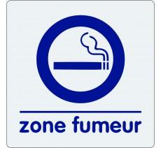 """Pictogramme économique en plexi """" Zone fumeur """""""