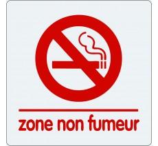 """Pictogramme économique en plexi """" Zone non fumeur"""""""