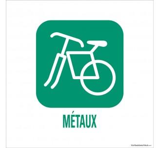 """Panneau de déchetterie """"Métaux"""""""