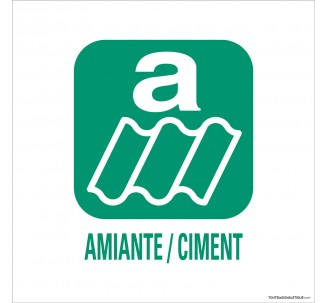 """Panneau de déchetterie conforme aux normes """"Amiante, ciment"""""""