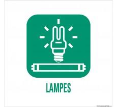 """Panneau de déchetterie conforme aux normes """"Lampes"""""""