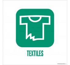 """Panneau de déchetterie conforme aux normes """"Textiles"""""""