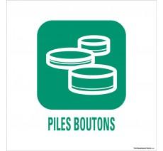 """Panneau de déchetterie conforme aux normes """"Piles boutons"""""""
