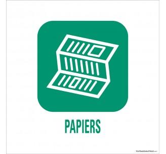 """Panneau de déchetterie conforme aux normes """"Papiers"""""""