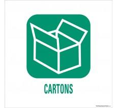 """Panneau de déchetterie conforme aux normes """"Cartons"""""""