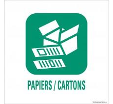 """Panneau de déchetterie conforme aux normes """"Papiers/Cartons"""""""
