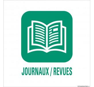"""Panneau de déchetterie conforme aux normes """"Journaux/Revues"""""""