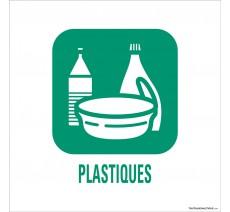 """Panneau de déchetterie conforme aux normes """"Plastiques"""""""