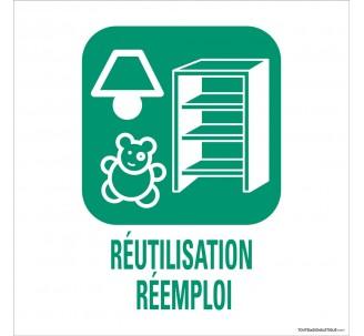 """Panneau de déchetterie conforme aux normes """"Réutilisation/Réemploi"""""""