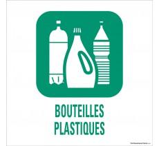 """Panneau de déchetterie conforme aux normes """"Bouteilles plastiques"""""""