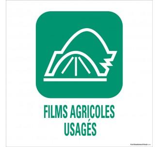 """Panneau de déchetterie conforme aux normes""""Films agricoles usagés"""""""