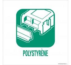 """Panneau de déchetterie conforme aux normes """"Polystyrène"""""""