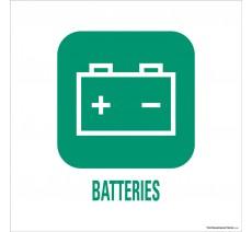 """Panneau de déchetterie conforme aux normes """"Batteries"""""""