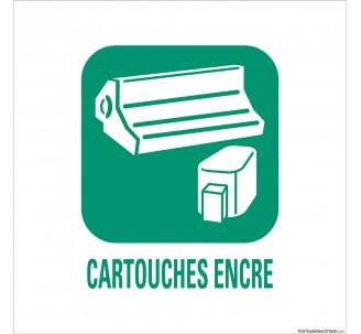 """Panneau de déchetterie  conforme aux normes """"Cartouches encre"""""""