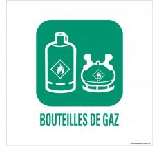 """Panneau de déchetterie conforme aux normes """"Bouteilles de gaz"""""""