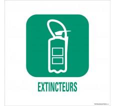"""Panneau de déchetterie conforme aux normes """"Extincteurs"""""""