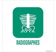 """Panneau de déchetterie conforme aux normes """"Radiographies"""""""