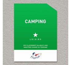 Panonceau Camping Loisirs 1 étoile