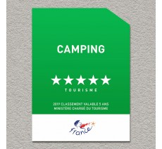 Panonceau Camping loisirs 5 étoiles