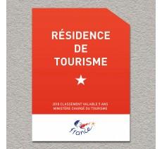 Panonceau Résidence de tourisme 1 étoile