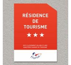 Panonceau Résidence de tourisme 3 étoiles
