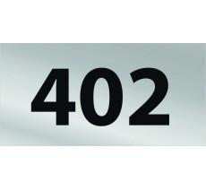 Numéro de chambre gravé PVC argent