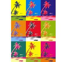 Palmier avec filtre Andy Warhol