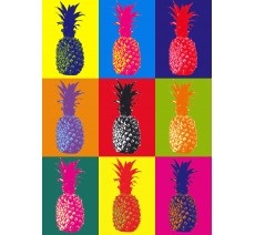 Ananas avec filtre Andy Warhol