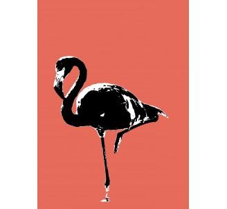 Flamand Rose avec filtre Andy Warhol