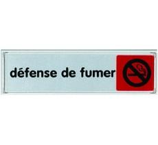 Plaque de porte plexi couleur Défense de fumer