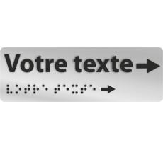 Manchon braille et relief VOTRE TEXTE