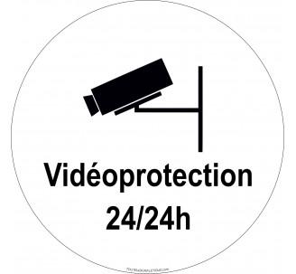 """Panneau en PVC rigide """"Videoprotection 24h/24h"""""""