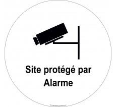 """Panneau PVC rigide """"Site protégé par alarme"""""""