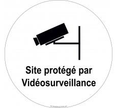 """Panneau PVC rigide """"Site protégé par vidéosurveillance"""""""