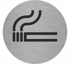 """Plaque porte picto rond """"Cigarette"""""""