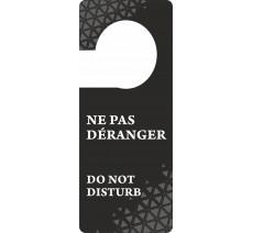 Pancarte accroche-porte noir