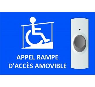 Plaque Appel rampe d'accès amovible format paysage