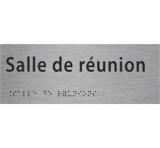 """Plaque porte avec Braille et relief """"Salle de réunion"""""""