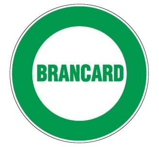 Panneau PVC rigide diamètre 300mm Brancard