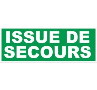 Adhésif ou panneau PVC rigide dim: H 120 x L 330 mm Issue de secours