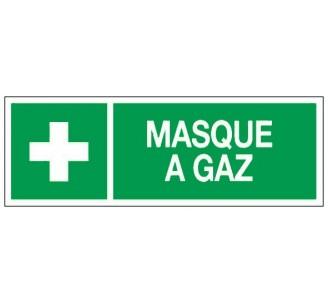 Adhésif ou panneau PVC rigide dim: H 120 x L 330 mm Masque à gaz