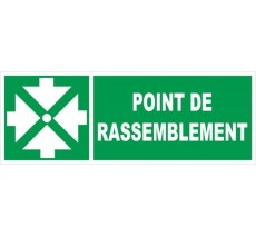 Panneau PVC rigide dim: H 120 x L 330 mm Point de rassemblement