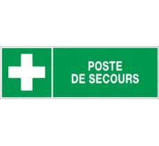 Panneau PVC rigide dim: H 150 x L 450 mm Poste de secours