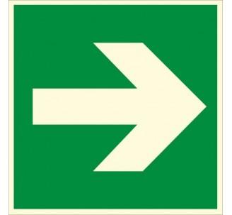 Panneau PVC photoluminescent rigide Flèche gauche/droite