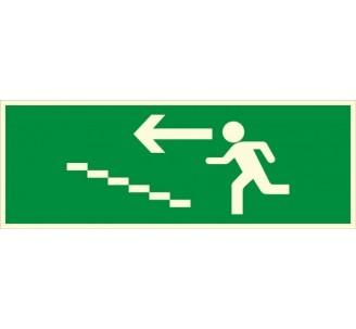 Panneau PVC photoluminescent rigide Escalier de secours montée à gauche