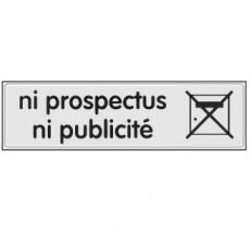 Plaque de porte plexi classique argent ni prospectus, ni publicité